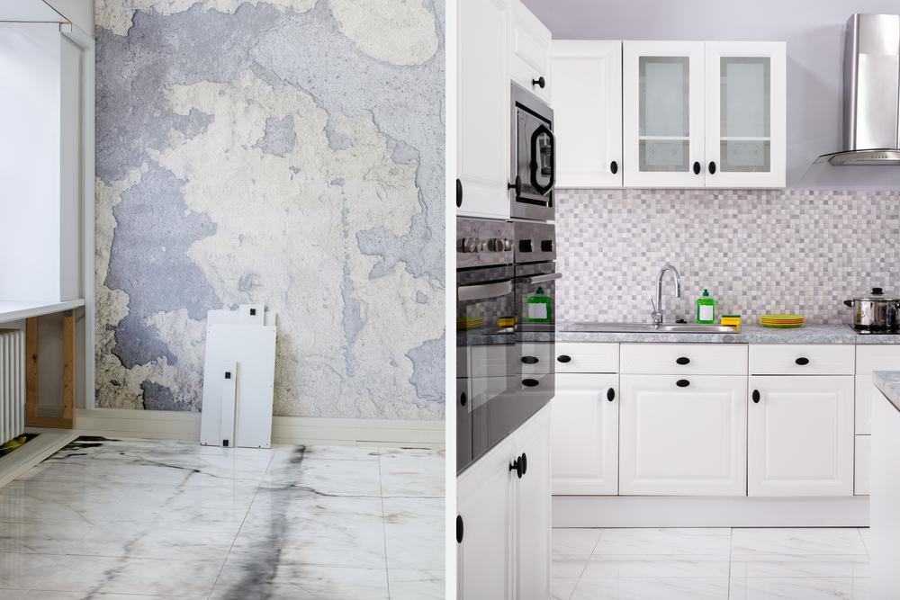 Remodeled Kitchen Tile Backsplash